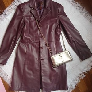 Danier Italian Leather Coat / Long Jacket